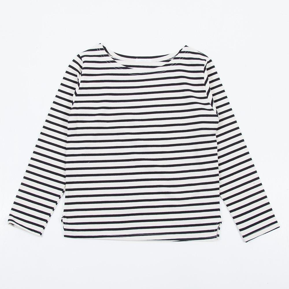 TシャツOEMボーダー縫製例