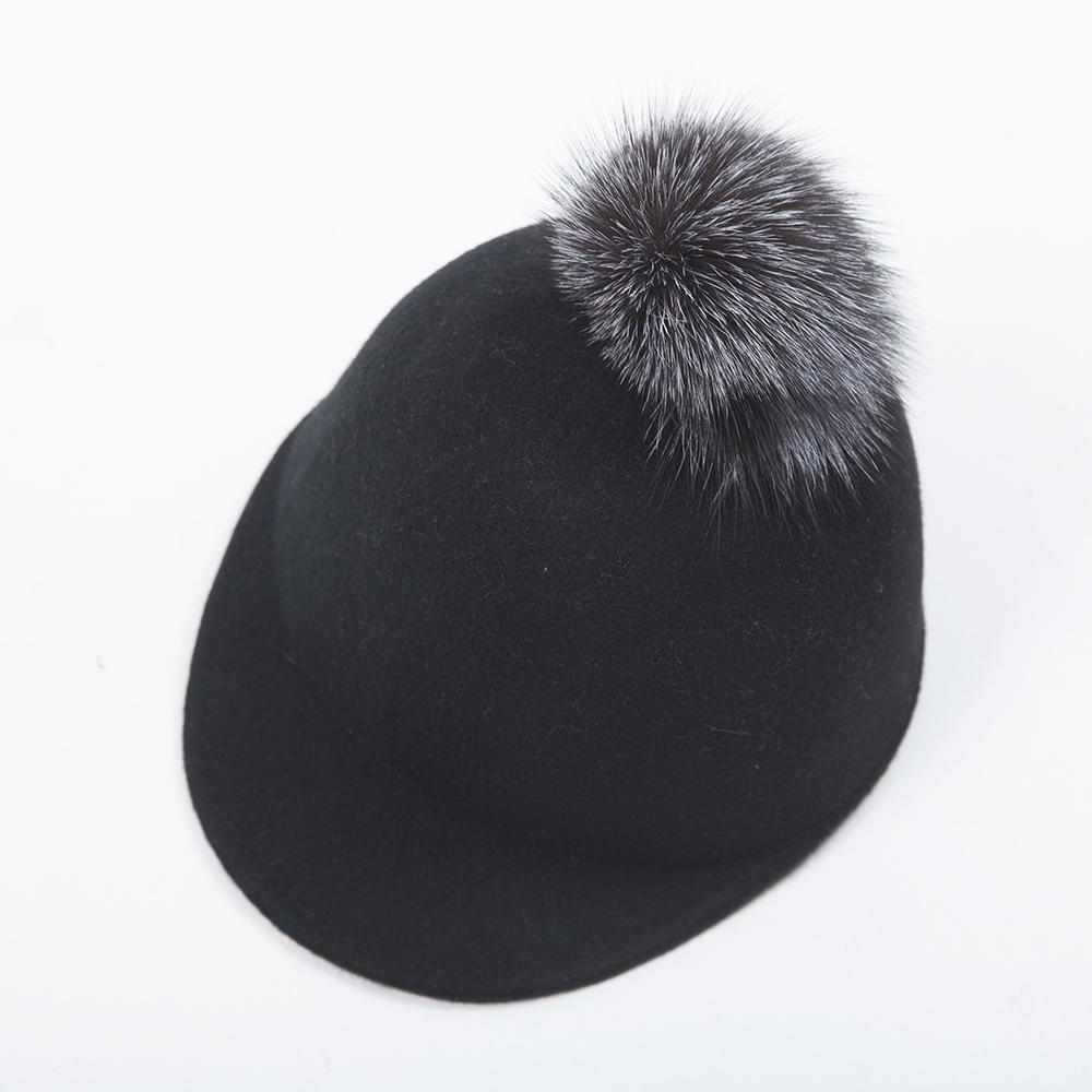 ベビー&キッズ ボンボン付帽子