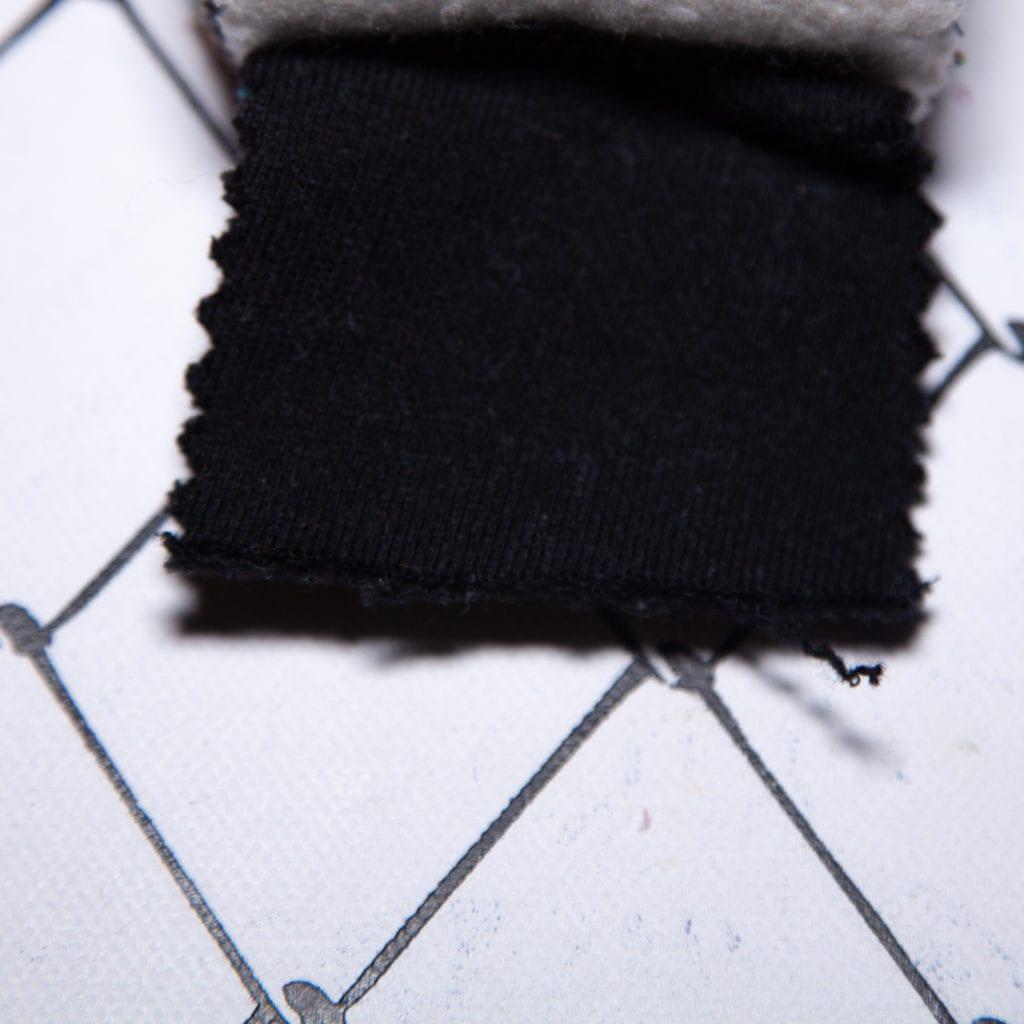 CCD3段 裏起毛 コットン 綿 100% ブラック