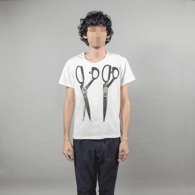 30番 シングル コットン 100% アイボリー Tシャツ