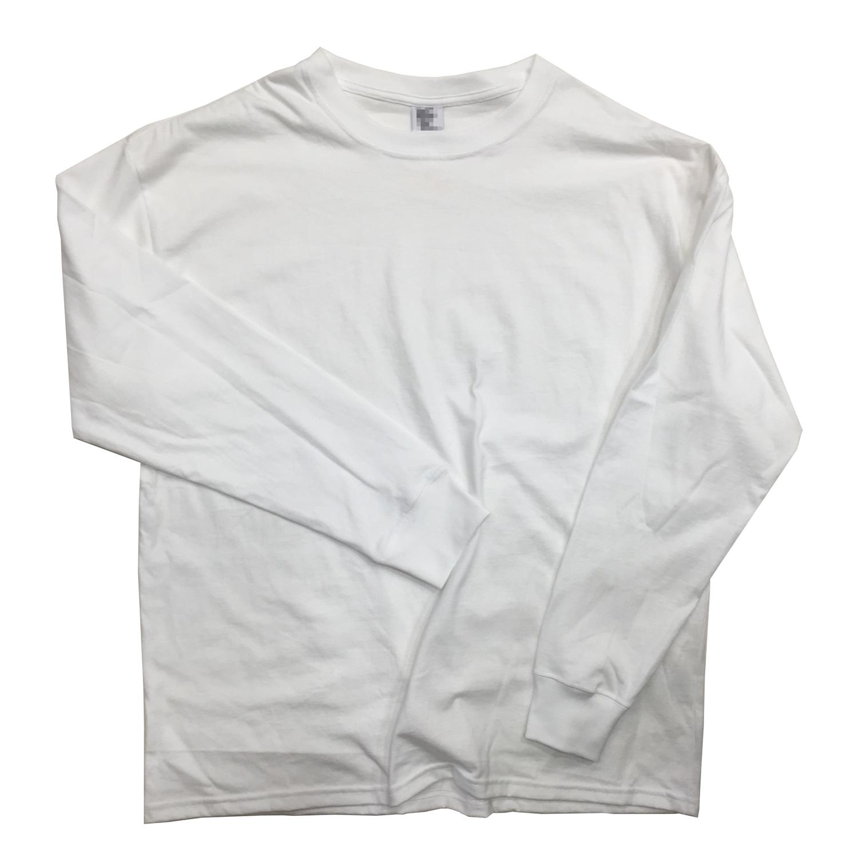 ロンT 制作事例 20s 天竺生地 オリジナル Tシャツ 縫製 ホワイト