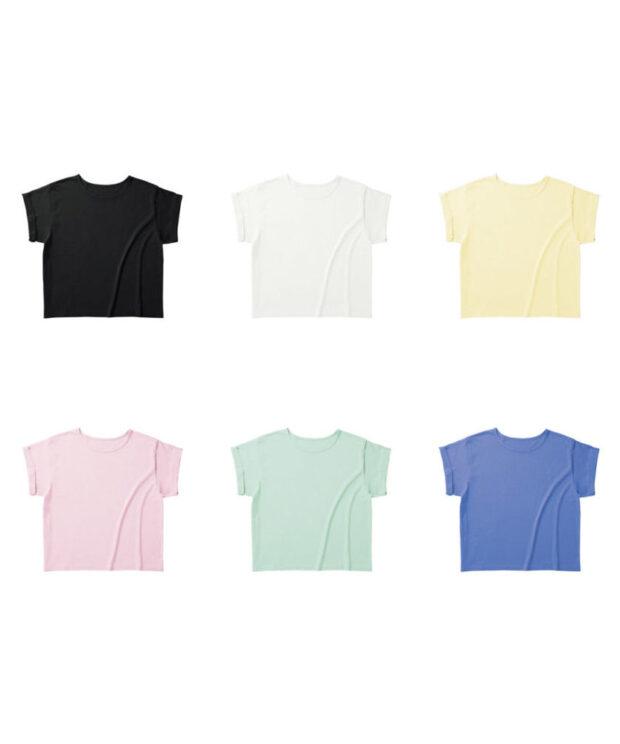 TRUSS WRU-806 ウィメンズ ロールアップ Tシャツ カラー