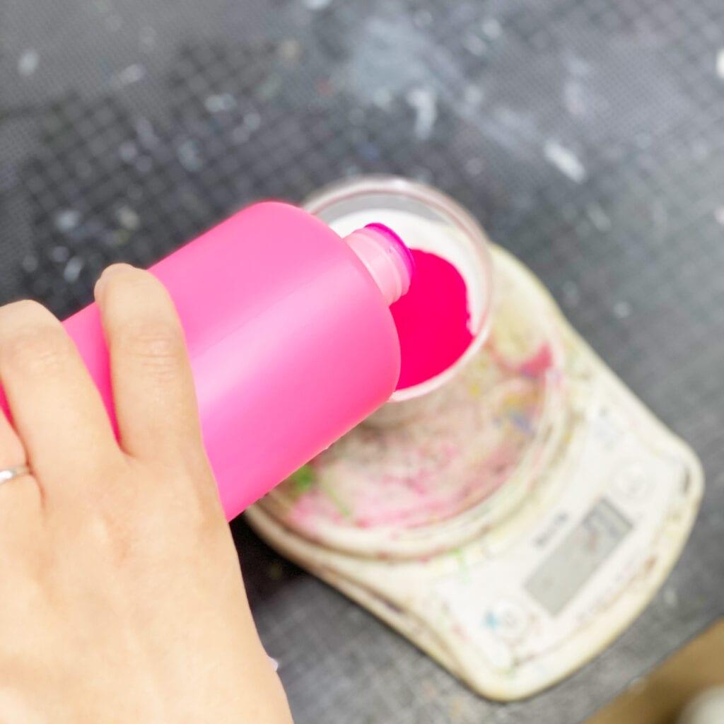 ピンク調色