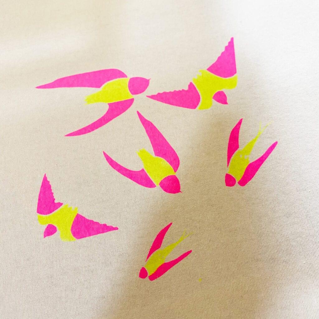 ピンク・黄色印刷